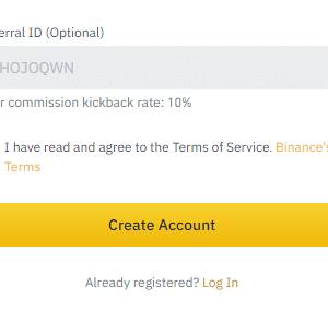 Binance Referral Register