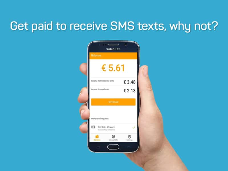 Get Paid to Receive SMS